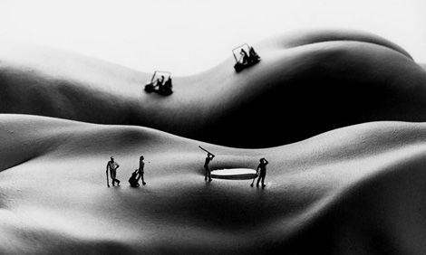 —Bodyscapes by Alan Teger: Miniatures, The Human Body, Artists, Bodyscap, Little People, Body Art, Golf Cour, Design, Allan Fresh