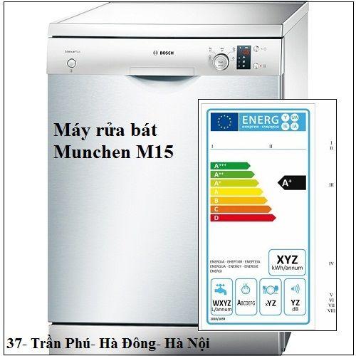 Máy rửa bát Munchen M15 sử dụng năng lượng hiệu quả