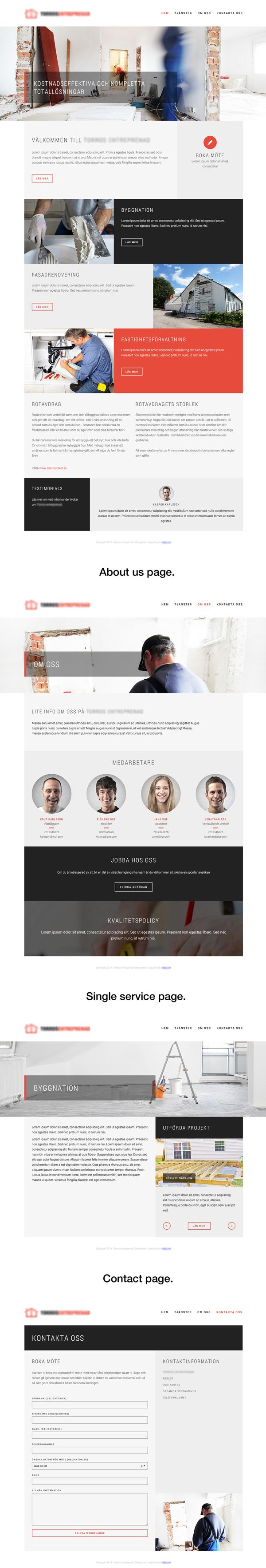 Construction company by jesper landberg, via Behance