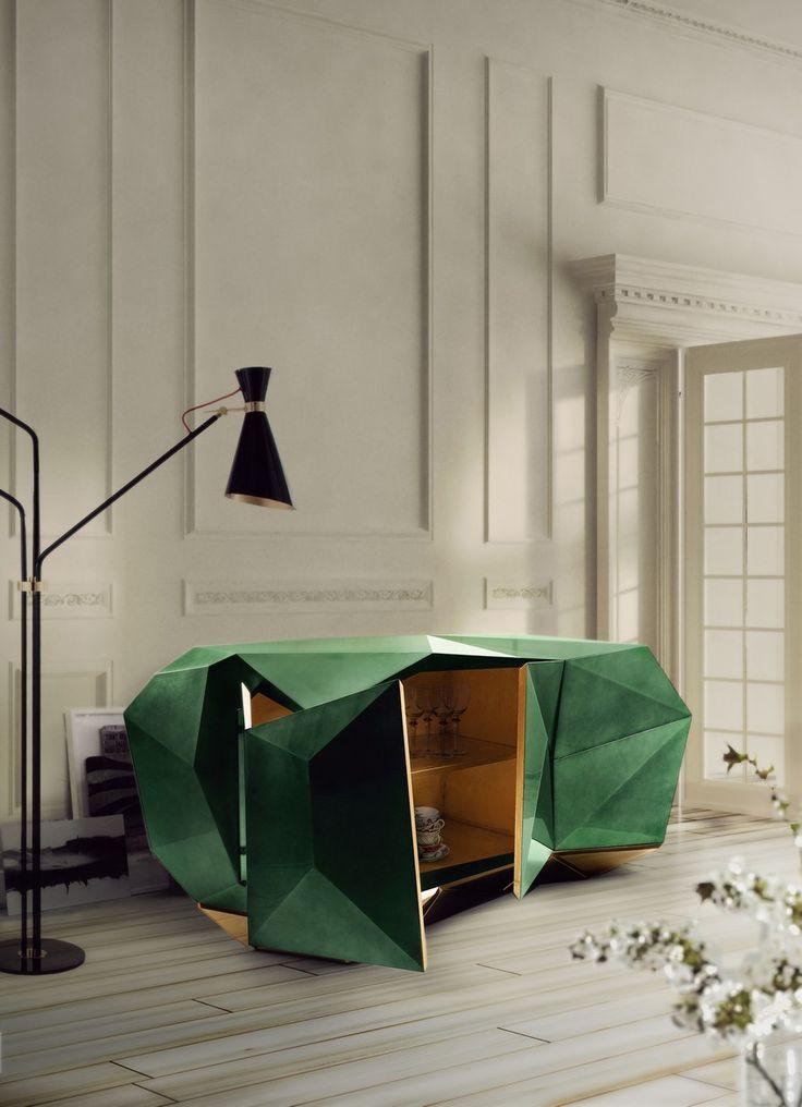 Trendiges Duo: Buffets und Kronleuchter für ein luxuriöses Wohnzimmer | #wohnideen #einrichtungsideen #Schönerwohnen #wohnzimmerideen #desiginspirationen #luxus #teuer #möbel
