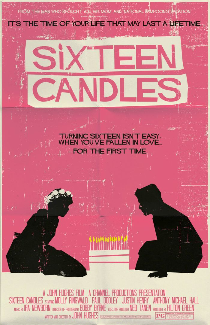 Sixteen Candles (1984) ~ Minimal Movie Poster by Mark ...