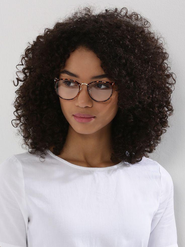 White Metal Printed Shell Geek Glasses # White # printed # Transparent