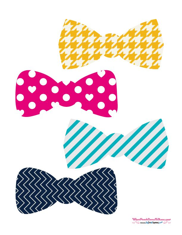 Free Photo Booth Props Bowties Puppyshower Dogbirthdayparty