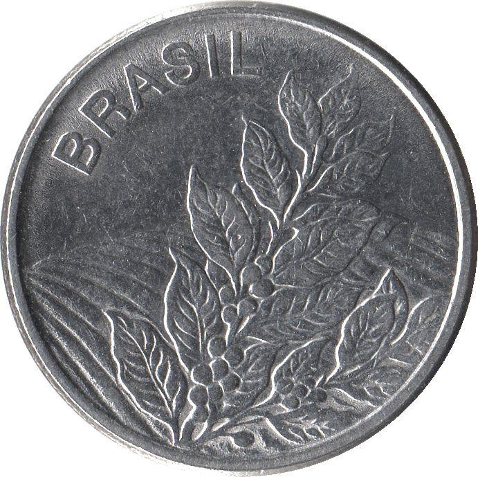 5 Cruzeiro #Brazile -1980-1984 Acciaio inossidabile ritre una pianta di caffè.