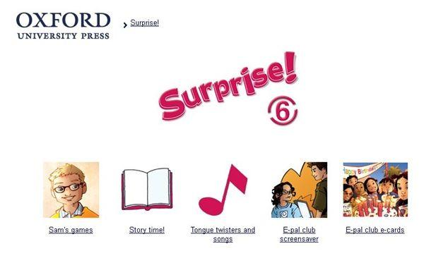Surprise!, Inglés de 6º Nivel de Educación Primaria, de Editorial Oxford, contiene actividades interactivas complementarias al material didáctico de este nivel.