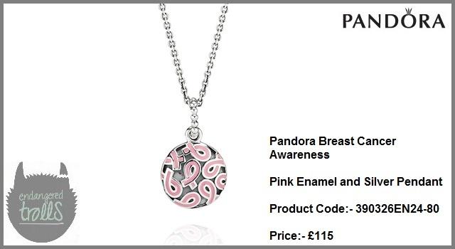 Pandora Breast Cancer Awareness Pink Enamel Pendant