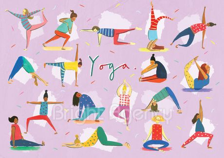 #yoga #art by @clairrossiter and is part of our new #exhibition buy the #print Have a look at our what's on page of the website http://www.thebrightemporium.com/printsandproducts/print-on-demand/#43