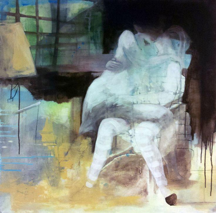 KJÆRESTER BY ANNE-BRITT KRISTIANSEN  #fineart #art #painting #kunst #maleri #bilde  https://annebrittkristiansen.com/paintings/2013/