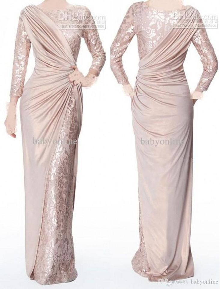 2016 Custom Made Pearl Pink Long Sleeves Mother Of Bride Evening Dresses Jewel Neck Elegant Glossy Floor Length Pleats Formal Prom Gowns 339 Mother Of The Bride Dresses Melbourne Mother Of The Bride Dresses Sydney From Babyonline, $110.79| Dhgate.Com