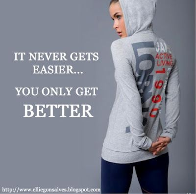 It never gets easier you get better