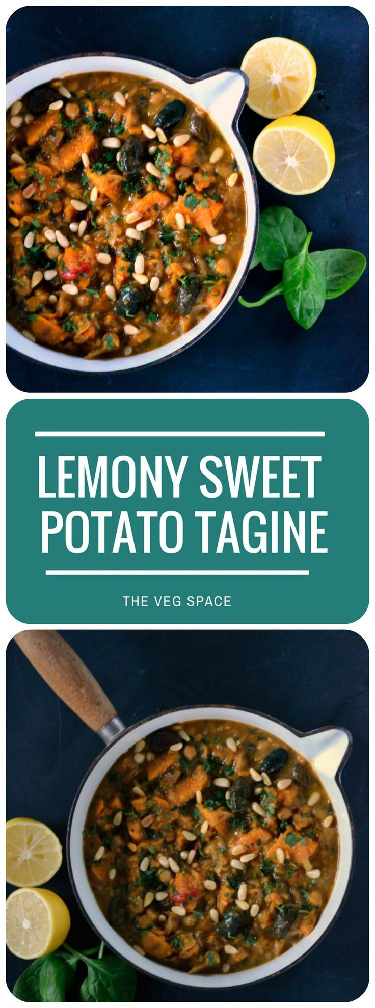 Best 25 vegetarian tagine ideas on pinterest recipes vegetable an exotic moroccan style lemony sweet potato olive tagine delicious with herby cous forumfinder Image collections