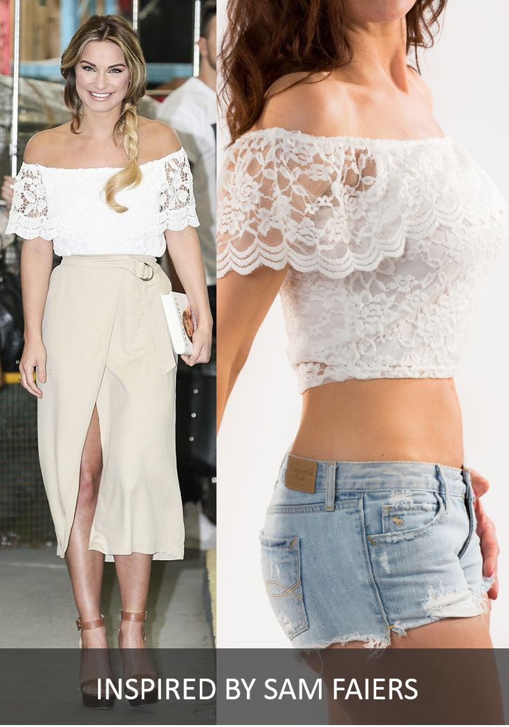 CHELSEA WHITE LACE OFF THE SHOULDER TOP BY GIRL VS FASHION