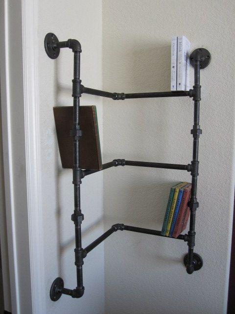 pipe bookshelf pipeshoerack pipe mobilier de salon. Black Bedroom Furniture Sets. Home Design Ideas