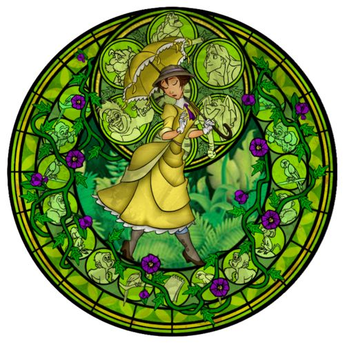 Stained Glass: Jane Porter by *Akili-Amethyst on deviantART