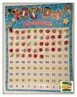 Simply Kinder: 100 Day Fun & Freebies Galore!  Hide 100 candies around the room, kids find them & count to 100 as a class.