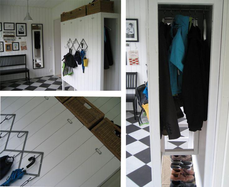 Tre rum: klädförvaring