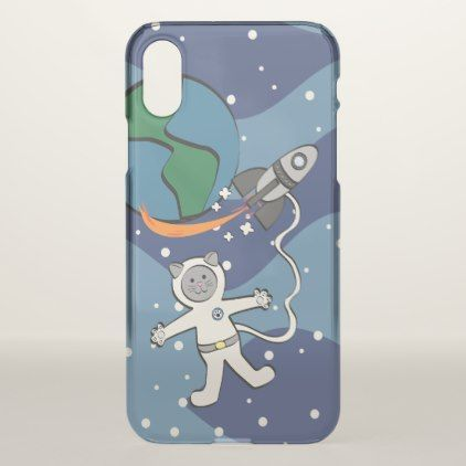 Major Tom Cat iPhone X Case - cat cats kitten kitty pet love pussy