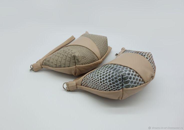 """Кожаная сумочка """"Круассан"""" – купить в интернет-магазине на Ярмарке Мастеров с доставкой - DAHGXRU"""