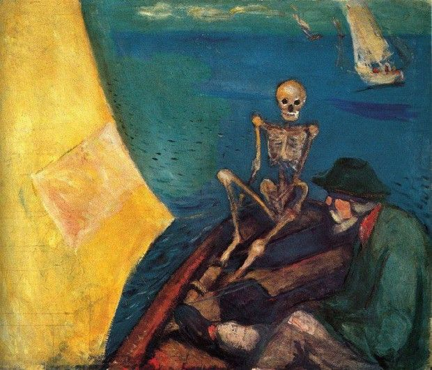 Edvard Munch, Death at the Helm, 1893 ,The Munch Museum, Oslo;