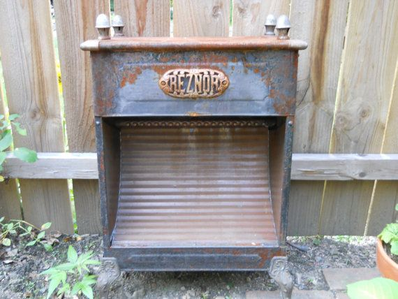 ANTIQUE Reznor Gas Heater.   Rusty Vintage by VeiledThroughTime