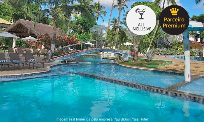 Pau Brasil Praia Hotel - Porto Seguro: Porto Seguro: 2, 3, 5 ou 7 noites para 2 + all inclusive no Pau Brasil a partir de 12x de R$ 45,75