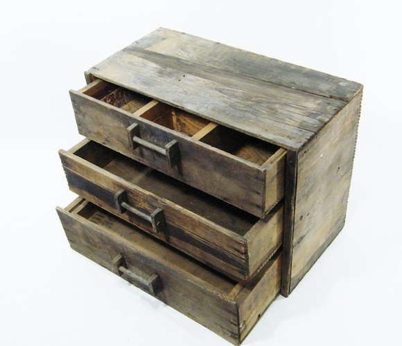Antique Storage Chest. (This would be so great for sewing supplies!)