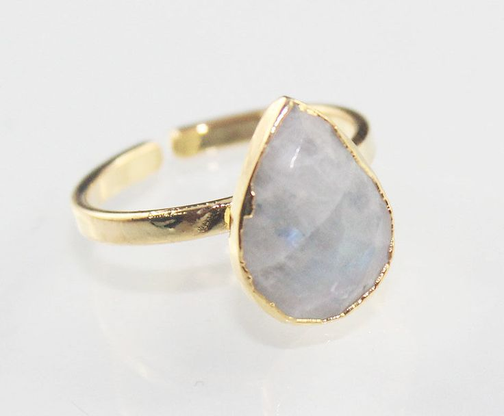 Super Offer Elegant White Rainbow 24k Gold Plated Adjustable Ring Jewelry D-495 #Handmade #Contemporary #CasualParty