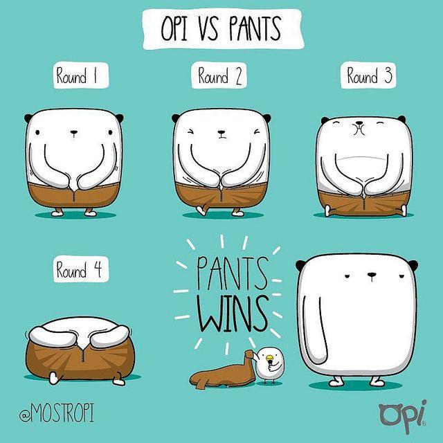 Opi vs Pants #opi #kipi #cute #kawaii #mostropi #ilustración #pants #fight | por OSCAR OSPINA STUDIO