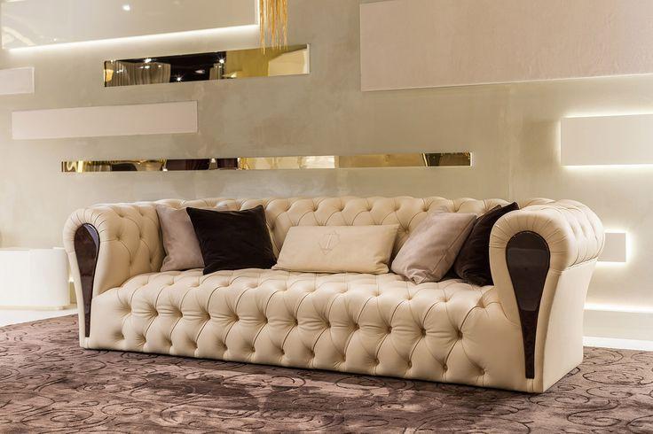 Mayfair Collection www.turri.it Luxury italian capitonné sofa