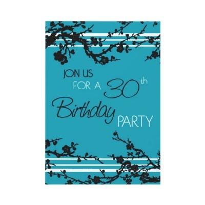 30ème carte d'invitation de fête d'anniversaire de par DreamingMindCards