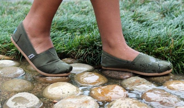 """DIY waterproof your shoes """"Rub the beeswax over the entirety of the shoe ... use a blow dryer to seal the deal."""""""