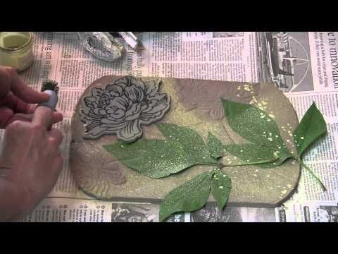 Great tricks for clay - esp. stamping. I'm going to try this with air dry clay.