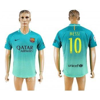 Barcelona 16-17 Lionel Messi 10 Tredje Tröja Kortärmad  #Billiga #fotbollströjor