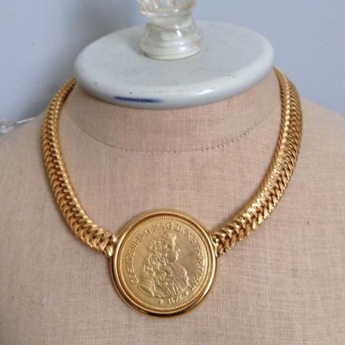Ben-Amun Double Chain Coin Brooch bPbwxhq