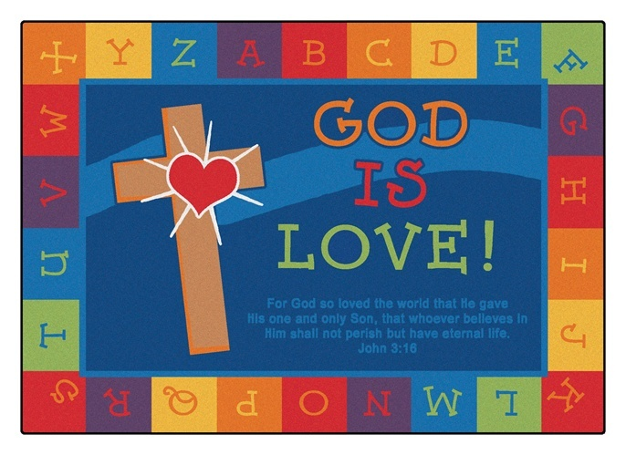 god is love learning rug carpets for kids classroom