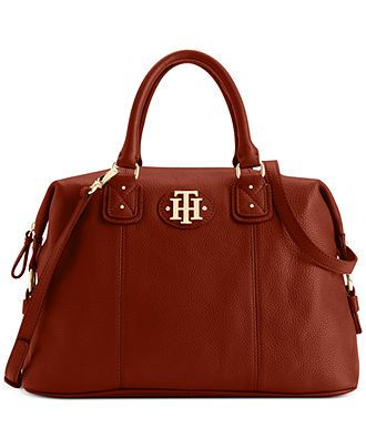 Tommy Hilfiger Handbag, Keepsake Leather Bowler Bag - All Handbags - Handbags & Accessories - Macy's