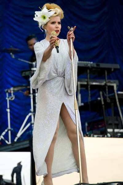 Paloma Faith in Diane Von Fustenberg performing at T in the Park, Scotland - July 13 2013
