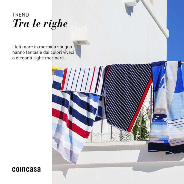 Coincasa offre una ricca selezione di teli mare in morbida spugna e accessori per le tue feste in piscina e le tue giornate in spiaggia!