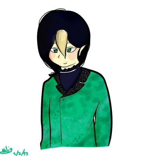 Sugar  demonio de la pereza, su color favorito es el verde esmeralda, todavía no tengo sus cosas personales ya que lo eh creado recientemente, pero poquito a poquito se irán revelando sus características.
