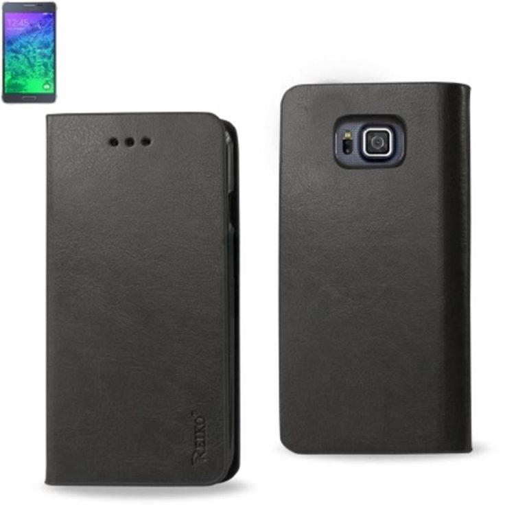 Reiko Flip Case With Card Holder For Samsung Galaxy Alpha Sm-G850A G850F Gray