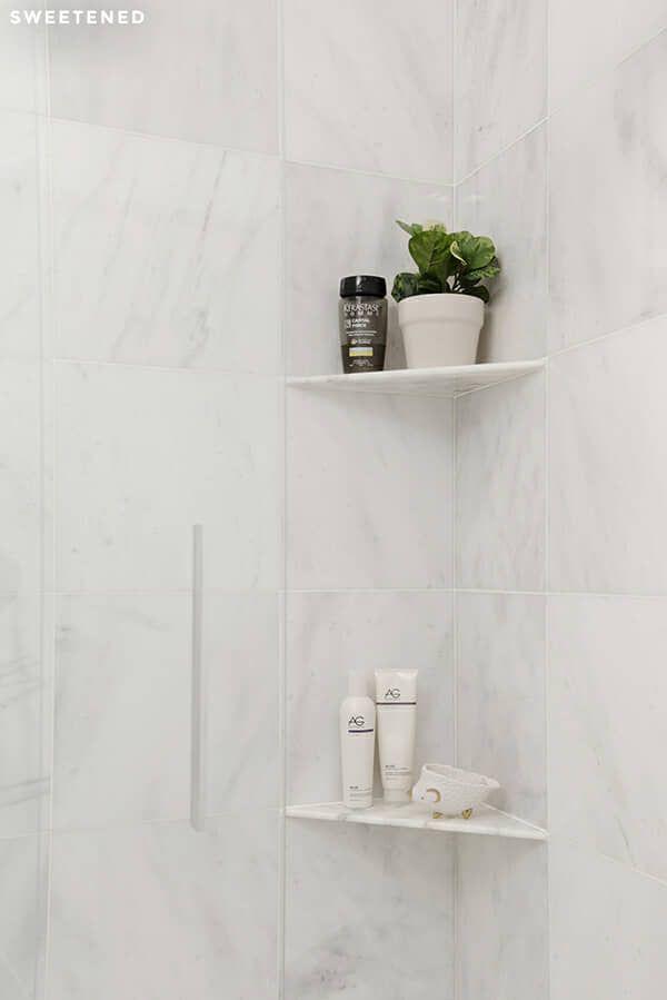 Shower Corner Shelf For Shower Units With Amazing Design