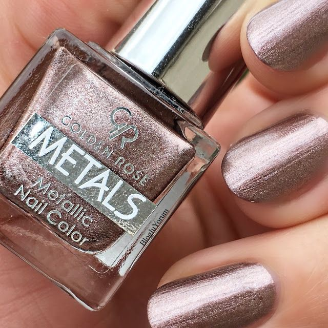 GOLDENE ROSE METALS METALLiC OJE 107  #goldene #metallic #metals #nageldesign