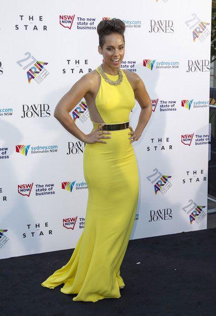 American singer, Alicia Keys...