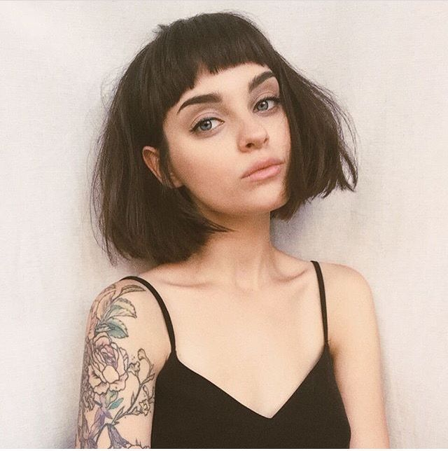 Bangs, brows, ink