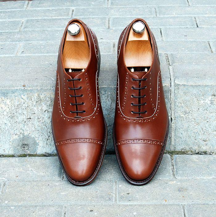 Pantofi Oxford Cap Toe Bergeronnette Calf