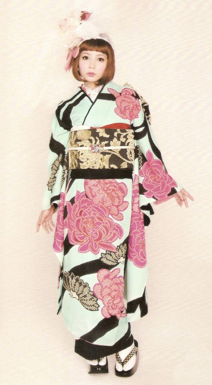 Kimono-hime issue 10. Fashion shoot page 50. Via Satomi Grim of Flickr