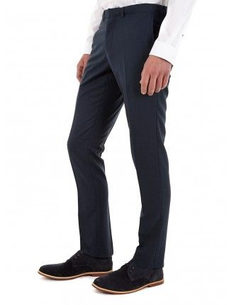FOREST GREEN SKINNY FIT SUIT TROUSERS