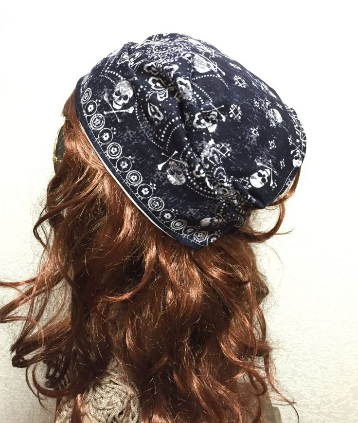 Active Lifestyle Bandanna headband, Do Rag Head Cover, Women's Wide Fabric Headband, Reversible Head Scarf, Work Out Hair Accessory by TripleJCrochet on Etsy