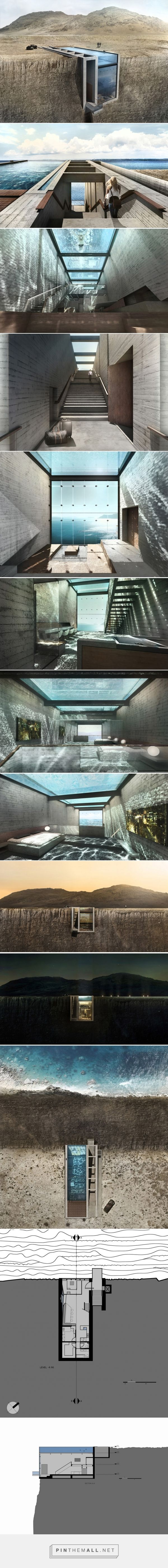OPA presents conceptual cliffside casa brutale on the aegean sea - created via http://pinthemall.net