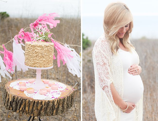 Girly Pink Maternity Session - Inspired By This